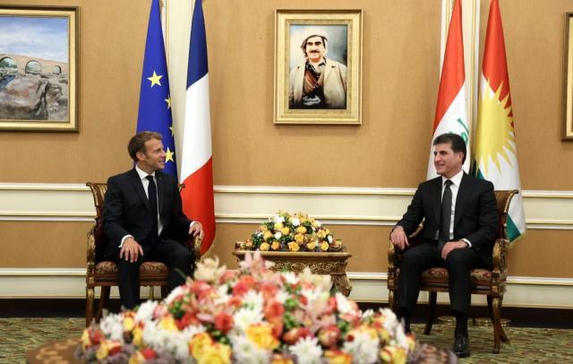 Fransa Cumhurbaşkanı Macron, IKBY Başkanı Barzani ile görüştü
