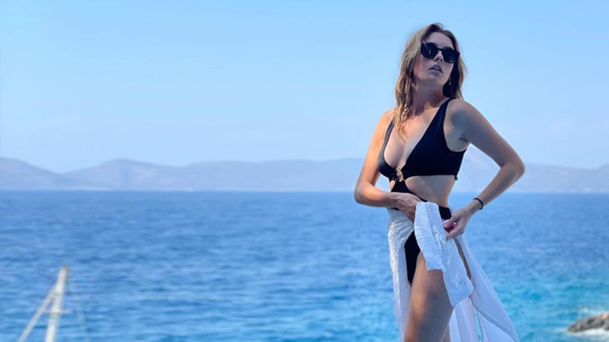 Sadakatsiz'in Derin'i Melis Sezen'in suyun içinde beyaz gömleğiyle paylaştığı fotoğrafa beğeni yağdı