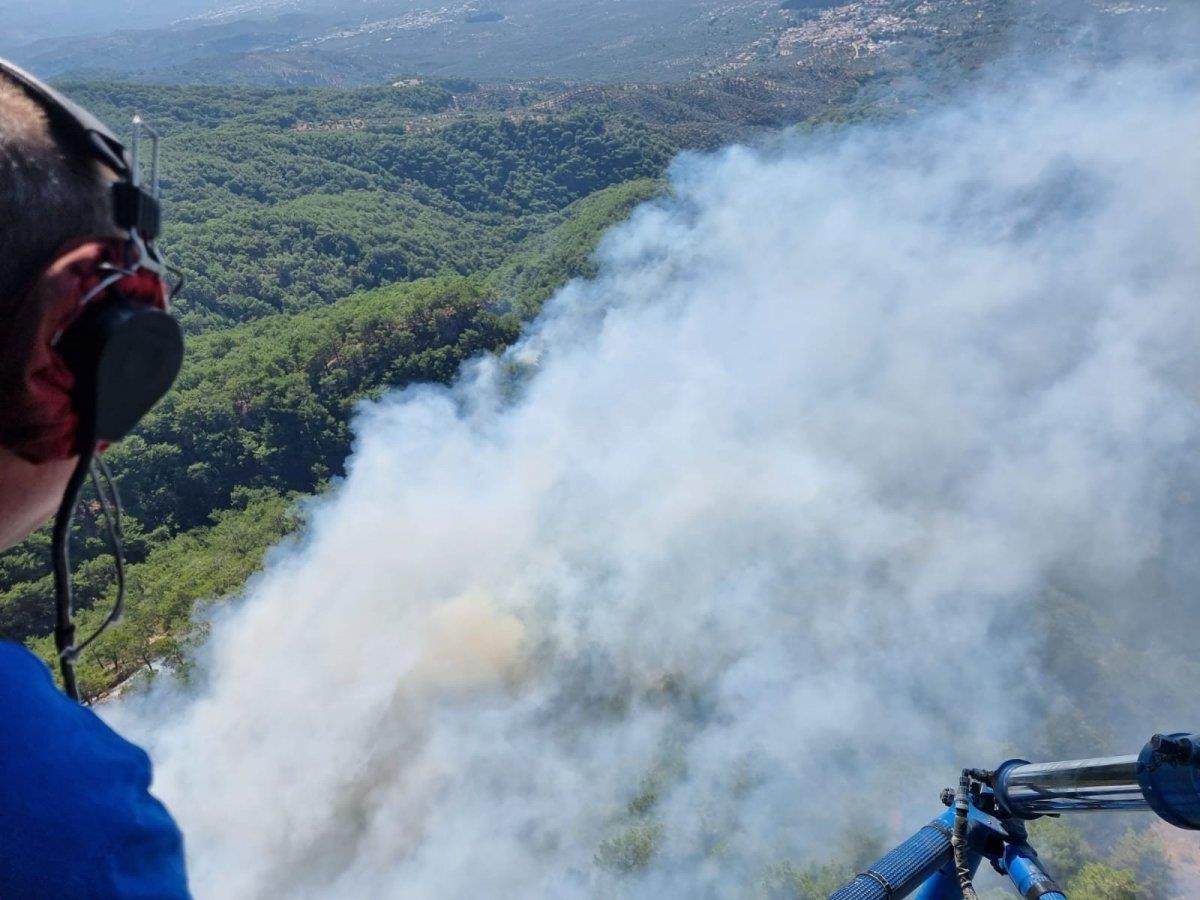 Son Dakika: Kazdağları'nda orman yangını! Edremit'teki yangına havadan ve karadan müdahale sürüyor